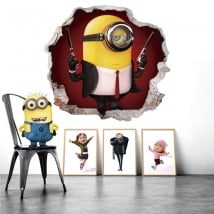 Wall stickers minion hitman 3D