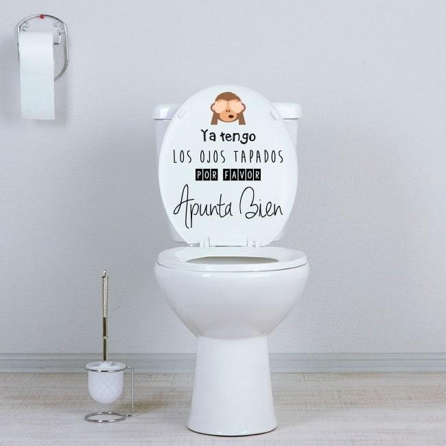 Vinyl bathrooms WC aim well