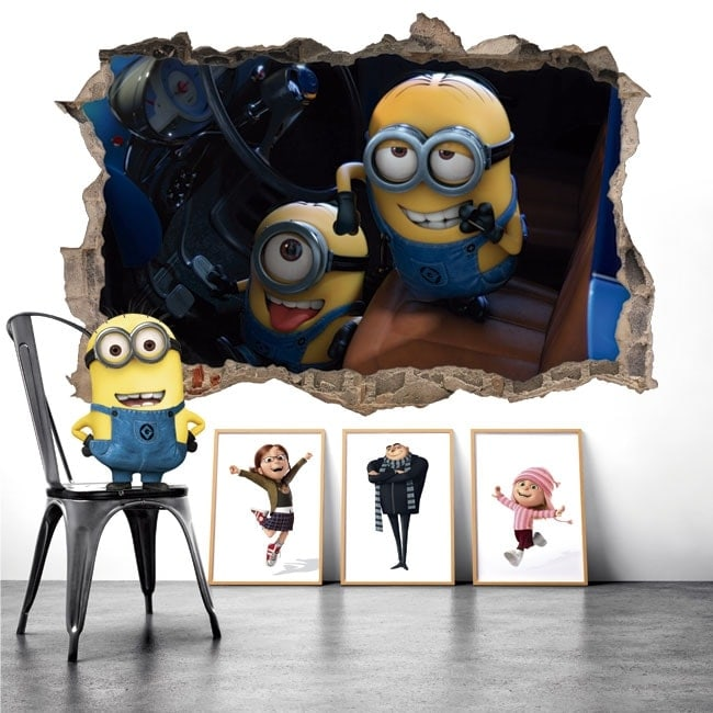 Stickers for wall minions despicable me 3D