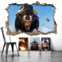 Wall stickers Ferdinand the bull 3D