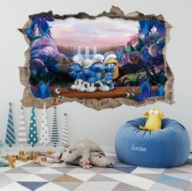 Wall stickers the Smurfs 3D