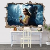 Wall stickers the beauty and the beast 3D