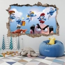 Vinyls and stickers the Smurfs 3D