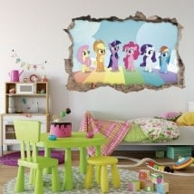 Vinyls 3D stickers my little pony