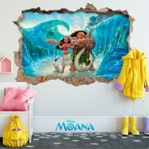 Children's vinyls Disney Vaiana 3D