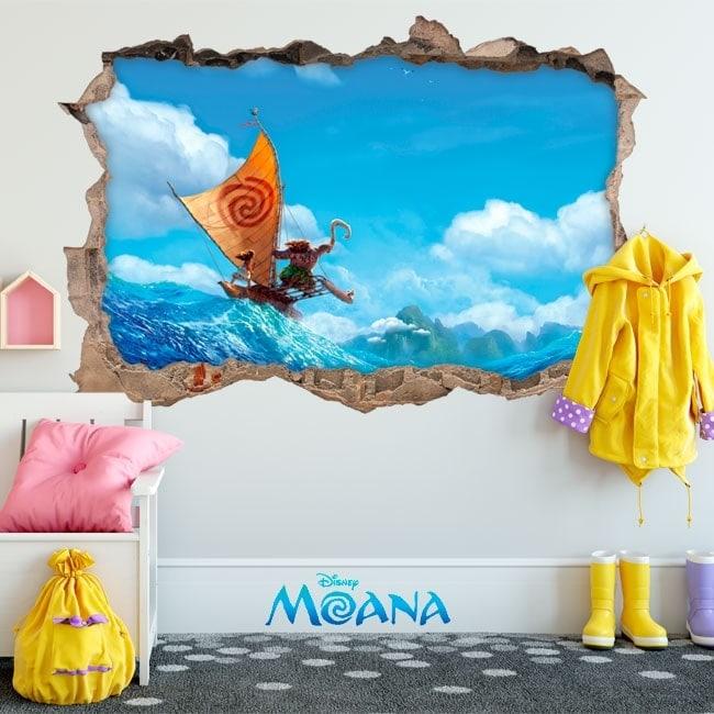 Disney children's vinyl Moana 3D