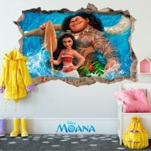 Wall stickers Disney Vaiana 3D