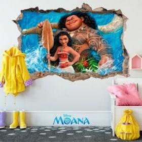 Wall stickers Disney Vaiana 3D