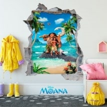 Wall decal children Disney Moana 3D