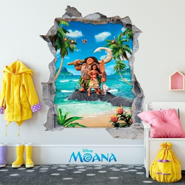Wall decal children Disney Moana 3D