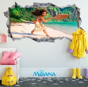 Vinyl and stickers Disney Vaiana 3D