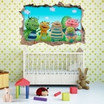 Children's vinyls Henry the happy 3D monster