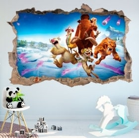 Wall Stickers ice age collision course 3D