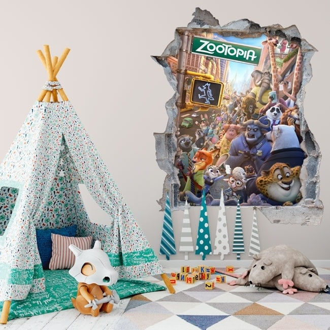 Wall stickers zootopia 3D