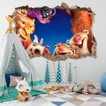 3D wall decals ice age collision course