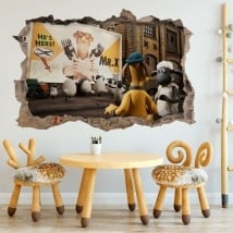 Wall stickers Shaun 3D sheep