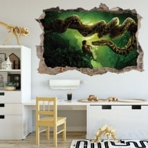Wall stickers 3D hole the book of the jungle