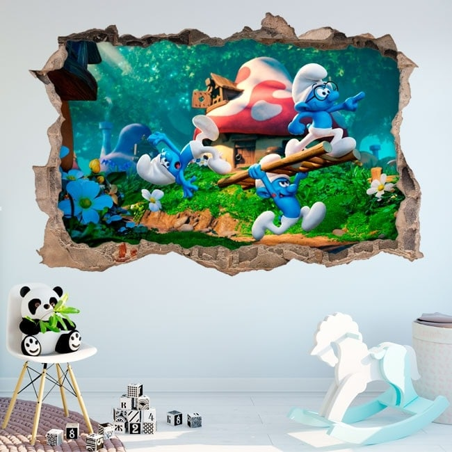 3D vinyls the smurfs