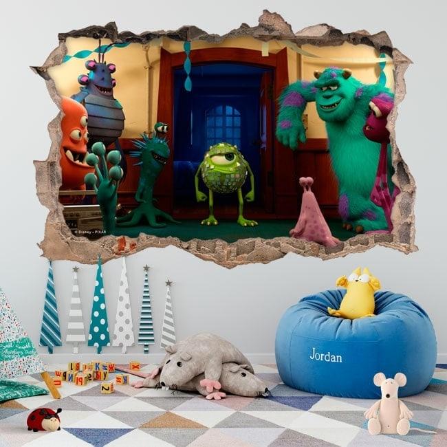 Children's vinyls monster university 3D