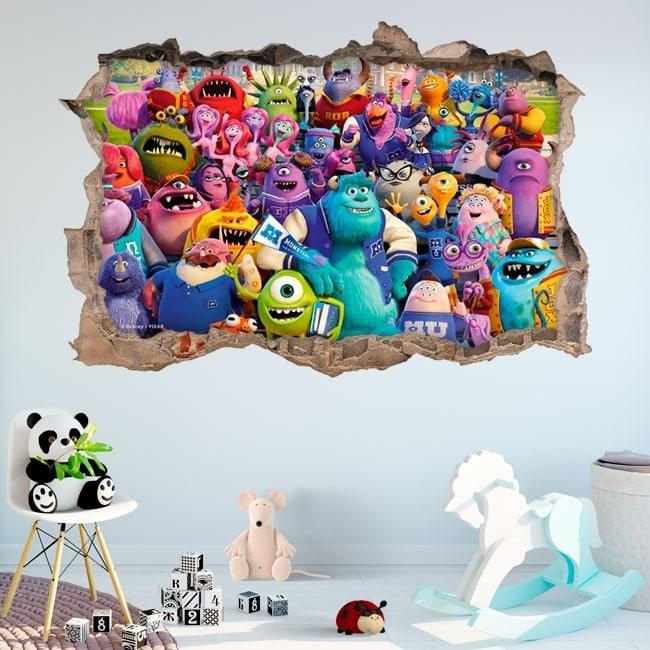 Wall stickers monster university 3D