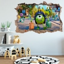 Stickers and vinyl monster university 3D