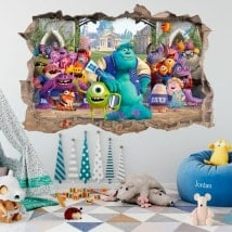 Wall decal monsters university 3D