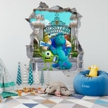 Children's stickers monsters university 3D