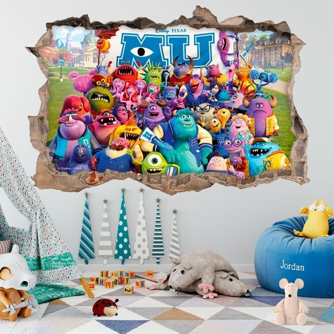 3D stickers monsters university