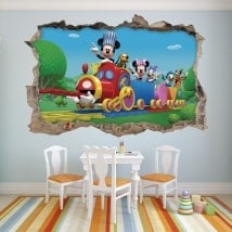 Children's vinyls Mickey Mouse and his friends 3D