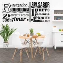 Decorative vinyl kitchen secret recipe