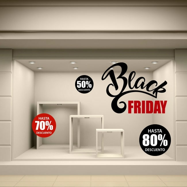 Black friday stickers and decals