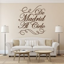 Decorative vinyl from Madrid to the sky