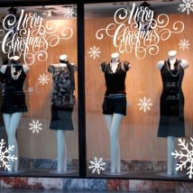Decoration vinyl merry christmas