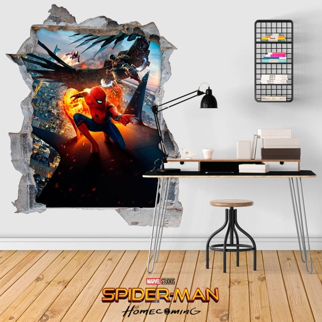 Spiderman Homecoming stickers 3D