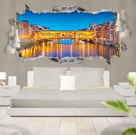 3D vinyl panoramic Florence Italy