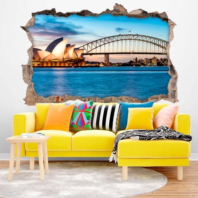 Sydney Australia 3D Wall Decal
