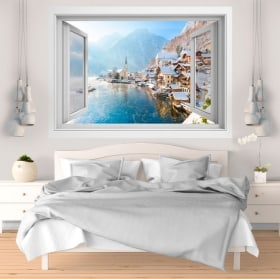 Wall stickers Winter in Hallstatt Austria 3D