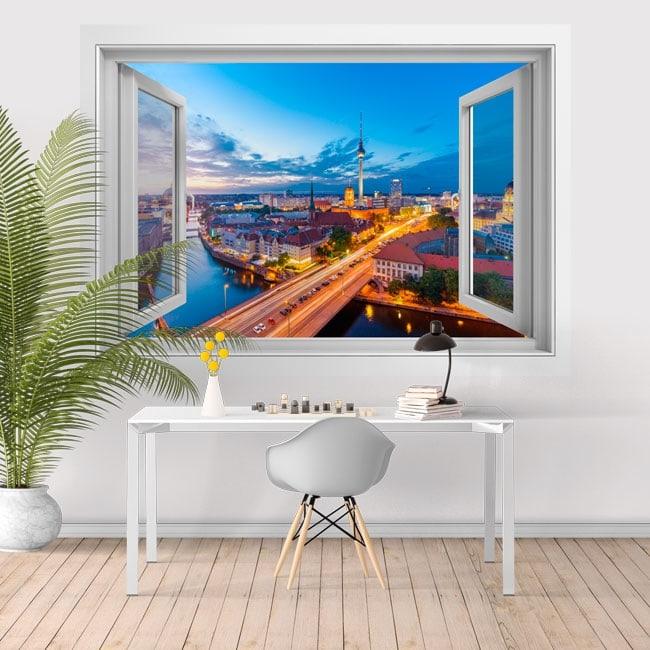 Window vinyl Spree Tower Fernsehturm Berlin 3D