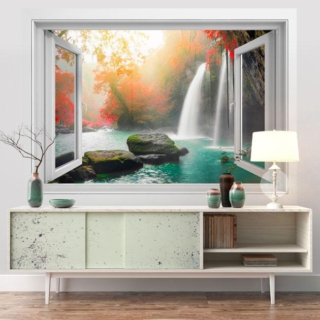 Vinyl waterfalls Heo Suwat 3D