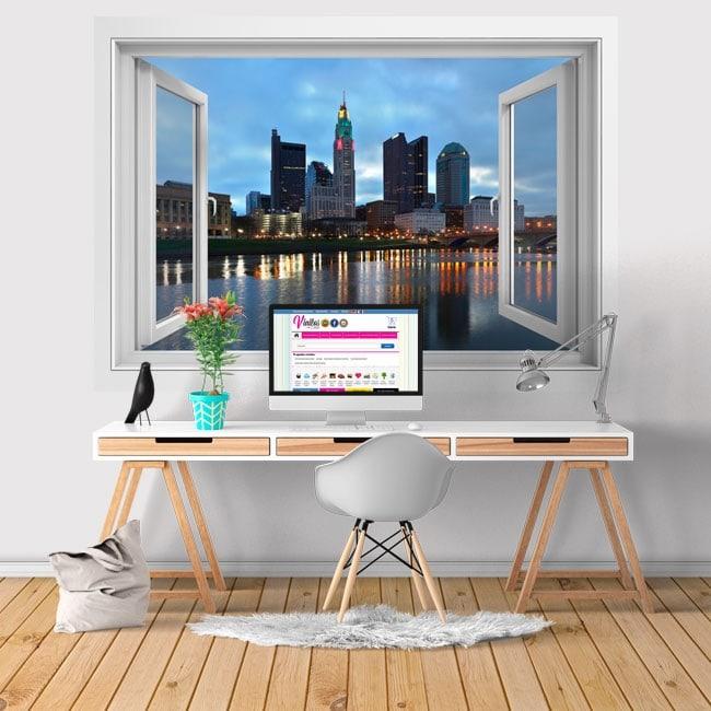 Vinyl Scioto river city Columbus Ohio 3D