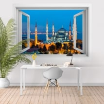 Vinyl blue mosque or Sultan Ahmed Istanbul 3D