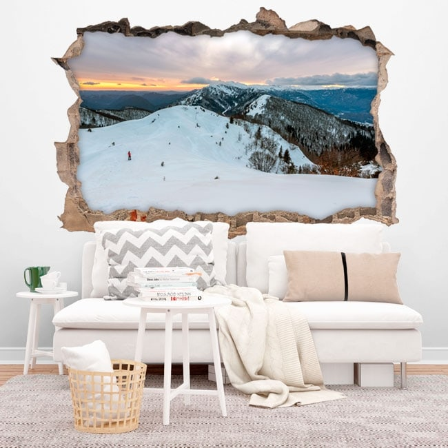 Vinyl walls Winter mountains Slovenia 3D