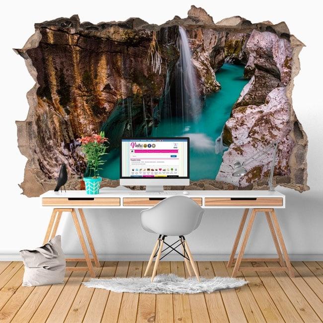 Vinyl waterfalls in Slovenia 3D