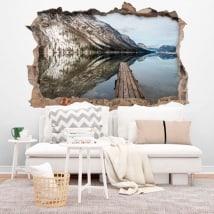 Vinyl lake Bohinj Slovenia 3D
