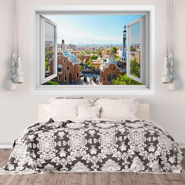 Vinyl walls park Güell Barcelona 3D