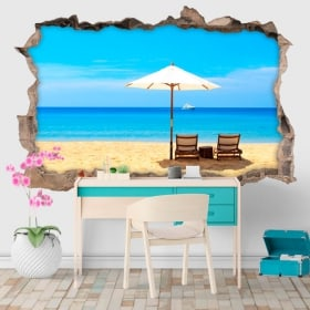 Decorative vinyl 3D beach days