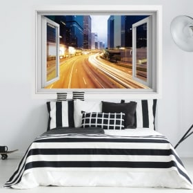 Wall stickers 3D night city