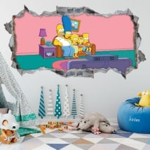 Decorative vinyl The Simpsons 3D