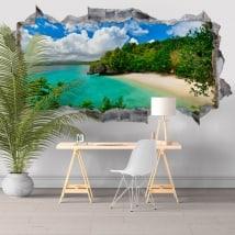 Vinyl walls Big Lagoon Philippines Islands 3D