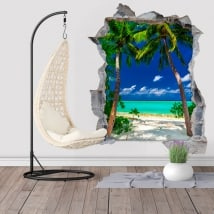Palm trees vinyls Big Lagoon Philippines Islands 3D